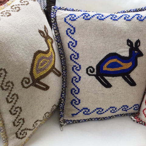 Wool pillow cases / Mazahua Conejo / Set of 4