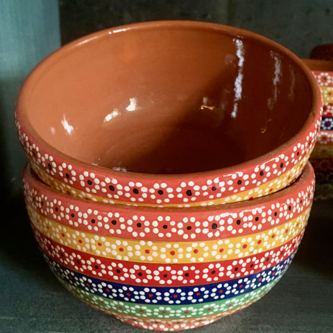 Bowl / Rainbow with Orange & Red