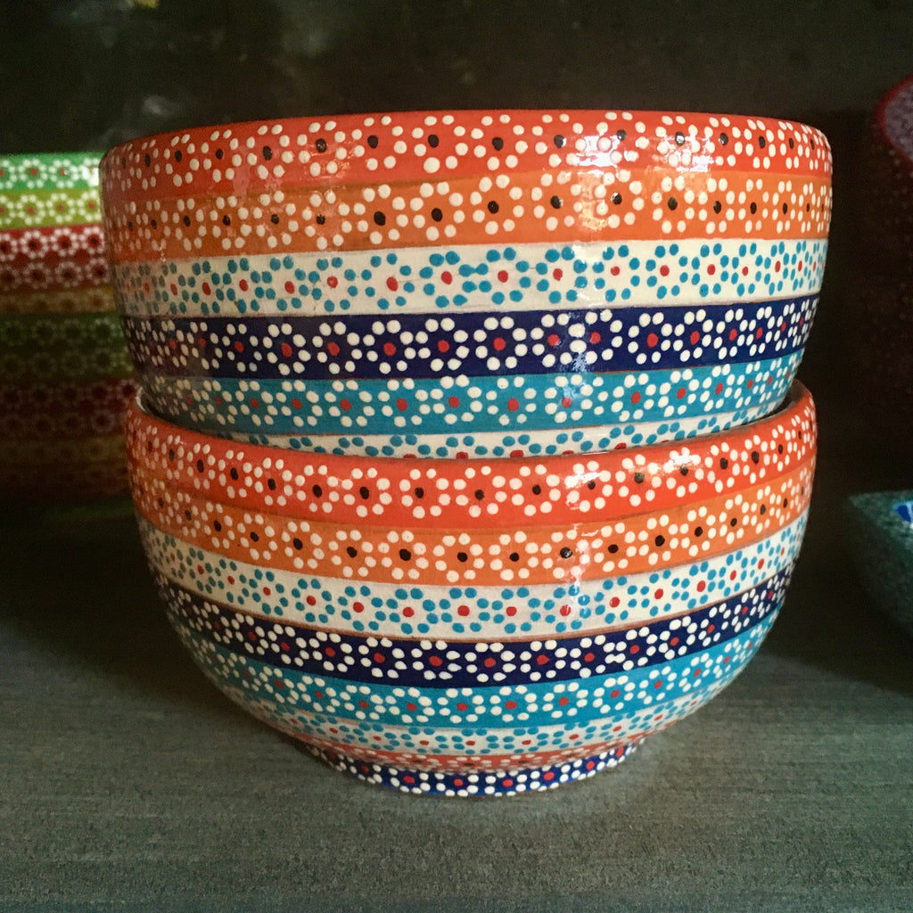 Bowl / Rainbow with Orange & Blue