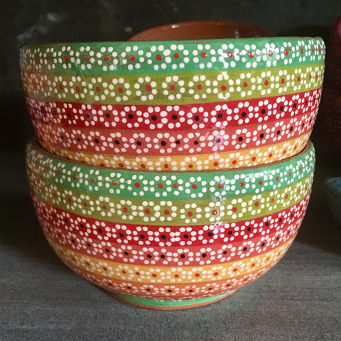 Bowl / Rainbow with Green & Red
