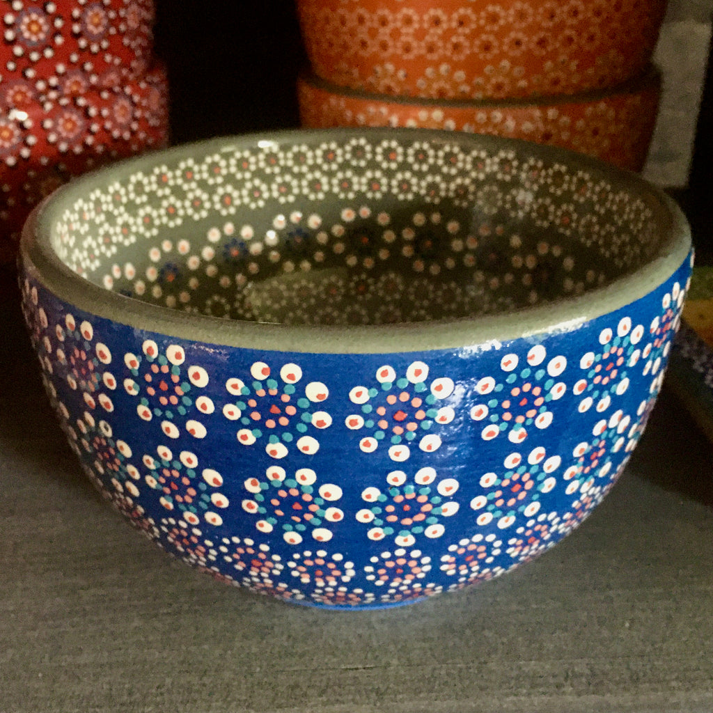 Bowl / Blue & Grey