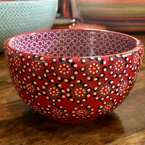 Bowl / Red & Purple