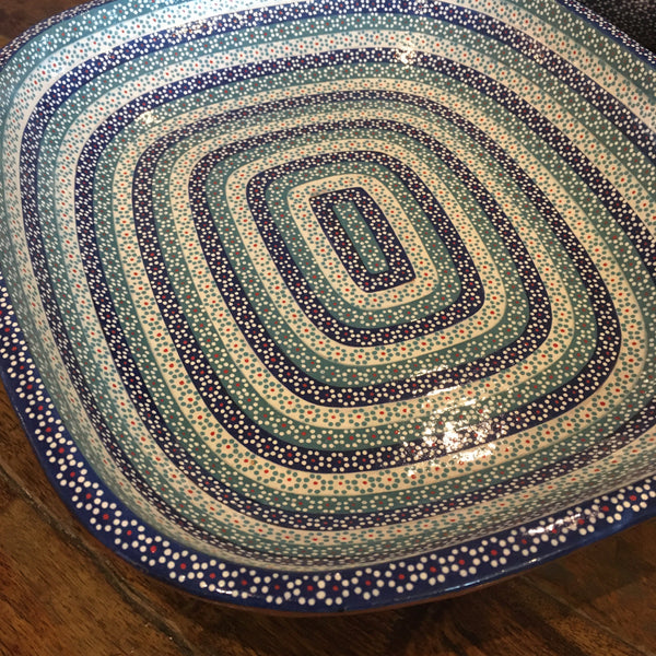 "Platter ""Ovalada"" Serving Dish / Blue Rainbow"