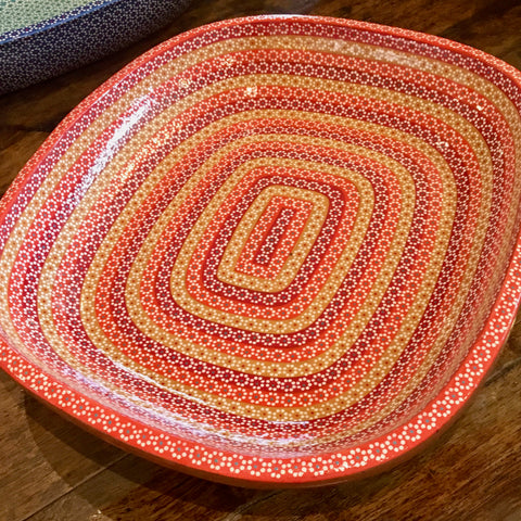 "Platter ""Ovalada"" Serving Dish / Orange Rainbow"