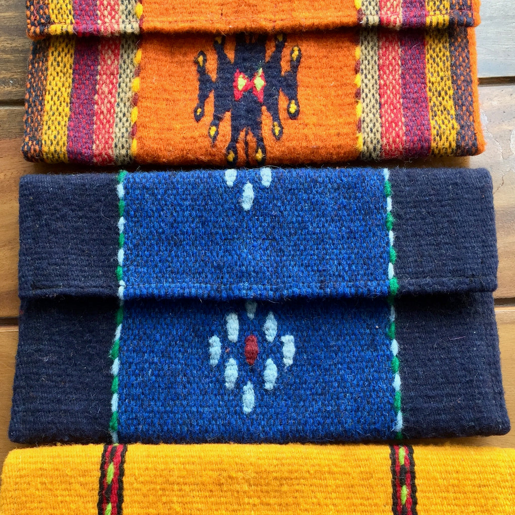 Wool Clutch from Oaxaca / Azul