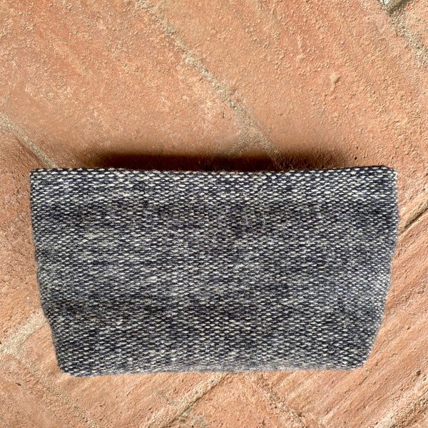 Hand-woven 'cosmetiquera' Make Up Bag - Slate Grey