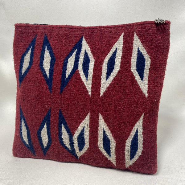 "Hand-woven Wool Laptop or iPad pouch - ""Guinda"""