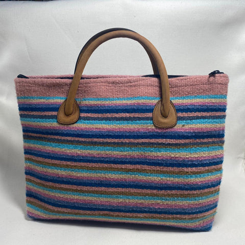 "Hand-woven Wool Laptop or iPad pouch - ""Mil Rayas"""