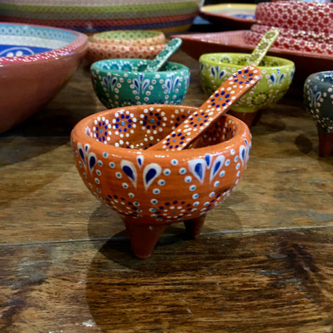 Molcajete Salsa Bowl / Mini / Orange