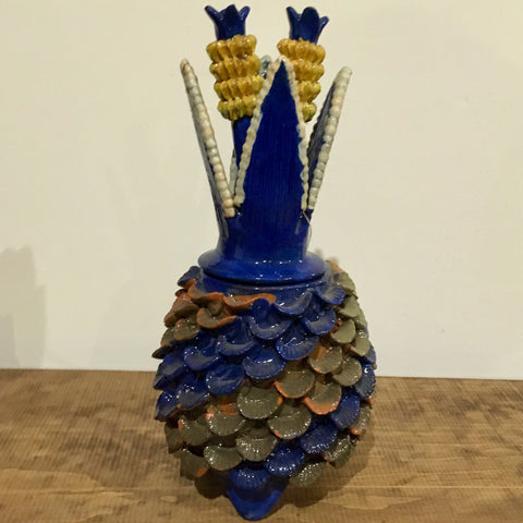 Piña / Pineapple from San Jose de Gracia / Blue & Yellow