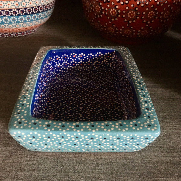 Soap Dish / Turquoise & Royal Blue