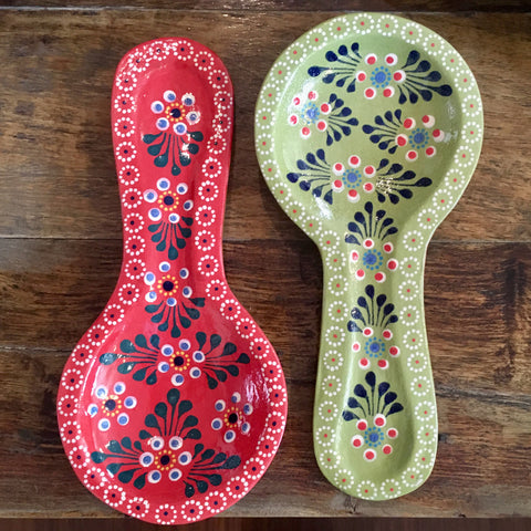 Spoon Rest / Red or Green Capuliñado