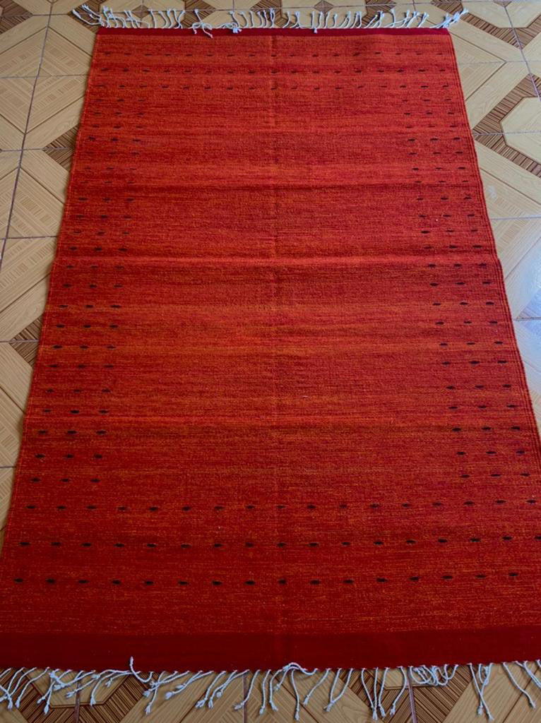 Copy of Zapotec Area Rug / Handwoven Wool from Oaxaca / Puntos / Red