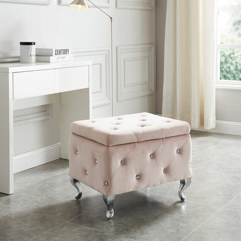 Monique Square Storage Ottoman