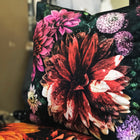 Dahlia Noir Fuchsia Cushion