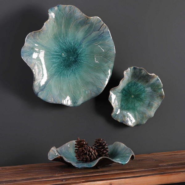 Ceramic Flower Trio