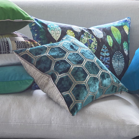 Manipur Azure Decorative Pillow