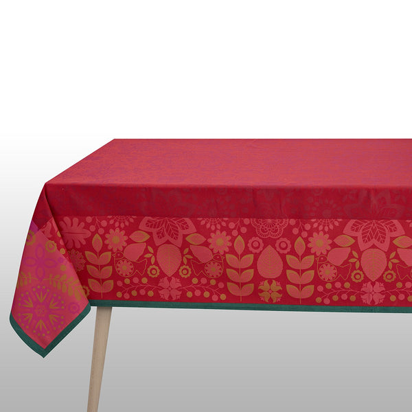 Rovaniemi Cranberry Tablecloth