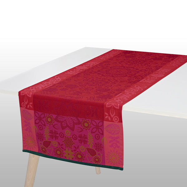 Rovaniemi Cranberry Table Runner