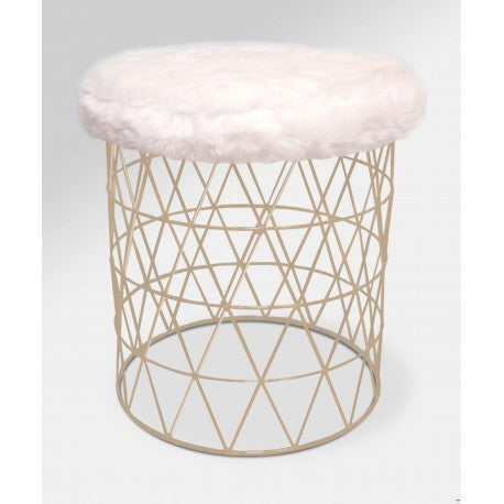 Cosmo Stool with Fur Cushion