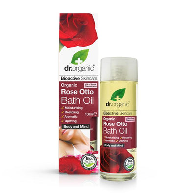 Dr Organic Rose Otto Bath Oil 100ml
