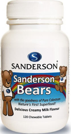 SANDERSON Bears Colost. Milk 120tab
