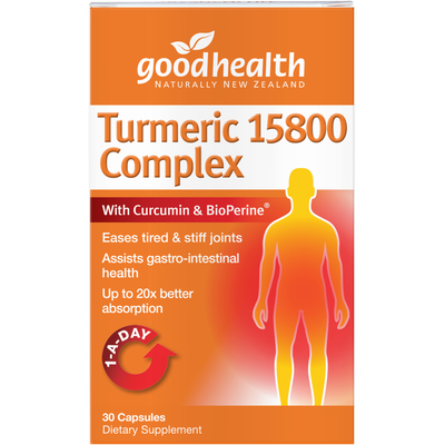 Good Health Turmeric 15800 Complex – With Curcumin & BioPerine® for Inflammation