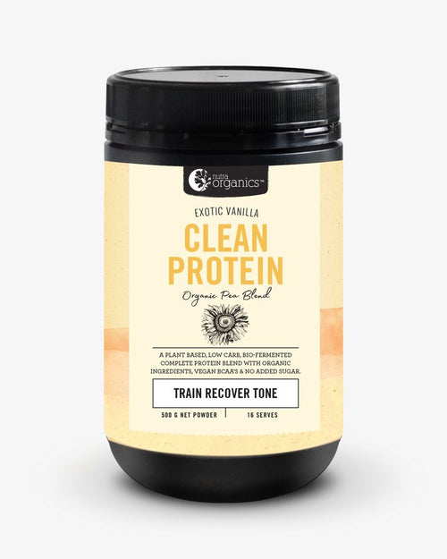 Nutra Organics Clean Protein Exotic Vanilla 500g