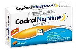 Codral Nightime Cold & Flu Tablets 24