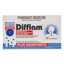 Difflam PLUS ANAESTHETIC Lozenges - MENTHOL & EUCALYPTUS 16