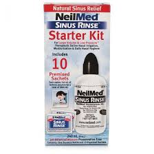 NeilMed Sinus Rinse Starter Kit - 240ml Bottle and 10 Sachets
