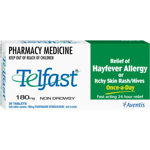 Telfast 180mg - 30 Tablets