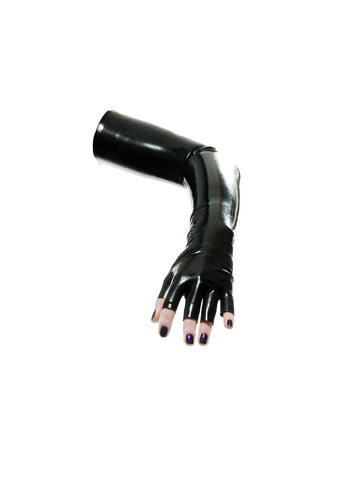 Fingerless opera glove