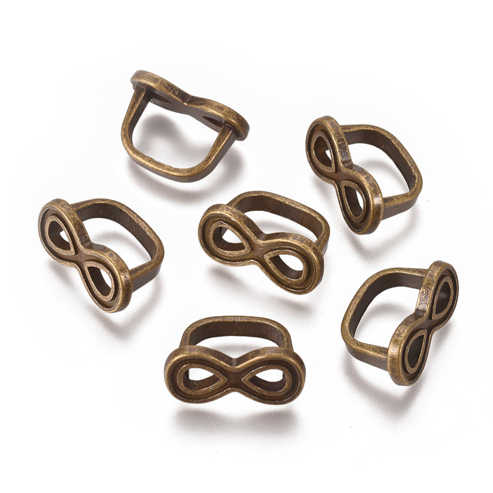 Antique Bronze Infinity Symbols