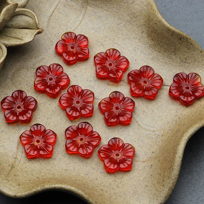 Red Glass flowers