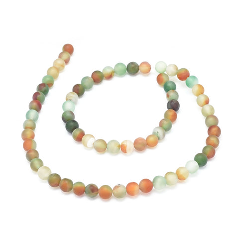 Agate beads small round