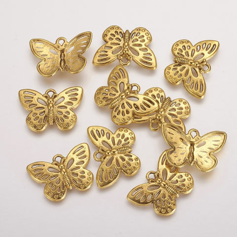 Antique Gold Butterflies