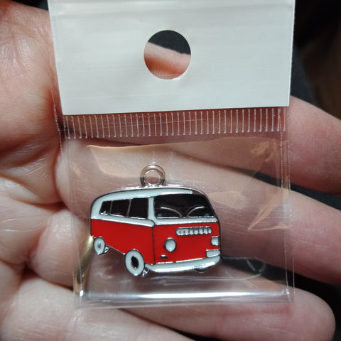 Red Kombi Van