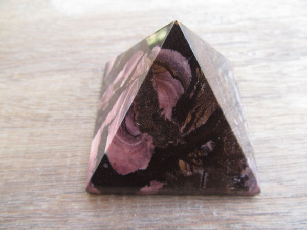 Outback Jasper Pyramid 23 with a heart..