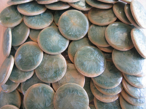 B27 Beads-Vintage Porcelain Rounds-Green