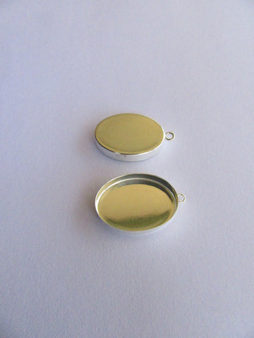 Stirling Silver Small Oval