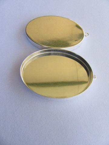 Stirling Silver Oval