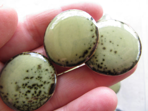 B35 Porcelain Rounds-Sage green