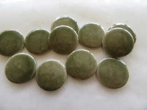 B36 Porcelain Rounds-Plain Green