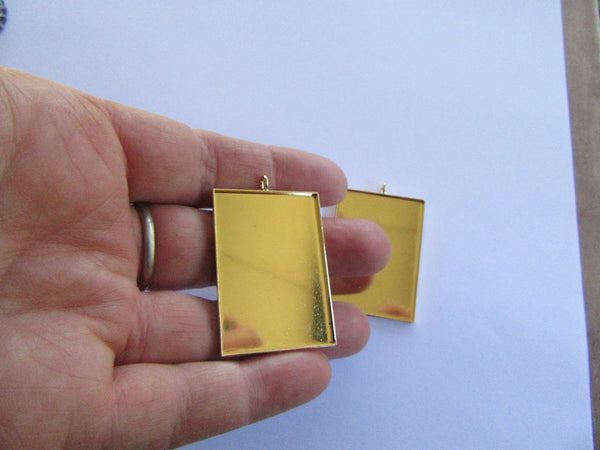 Gold Plated Rectangle Blank