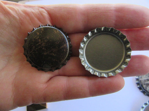 Antiqued Gold Print Bottle Cap