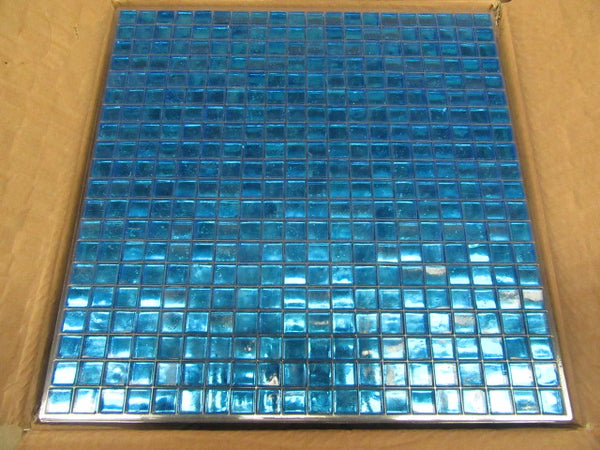 Bright Blue Painted Tile