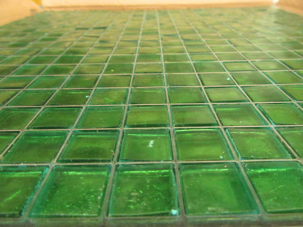 Dark Green Painted Tile