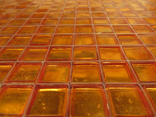 Orange Painted Tile
