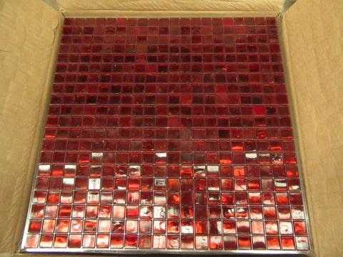 Dark Red Painted Tile
